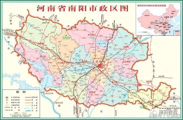 南阳市行政地图