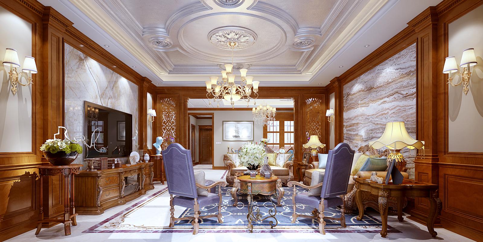 别墅装修设计丨欧式奢华装饰,向钱看的装修风格
