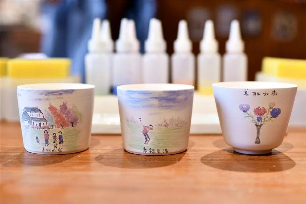 diy陶艺杯子手绘图案
