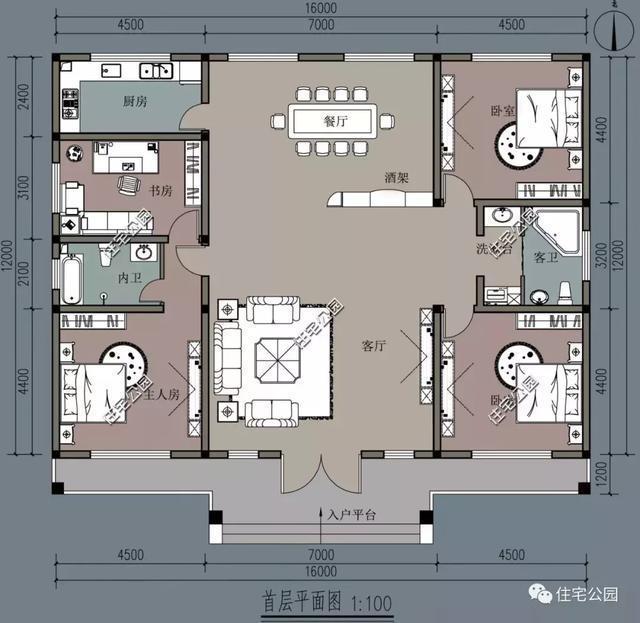 8乘16平房设计图纸