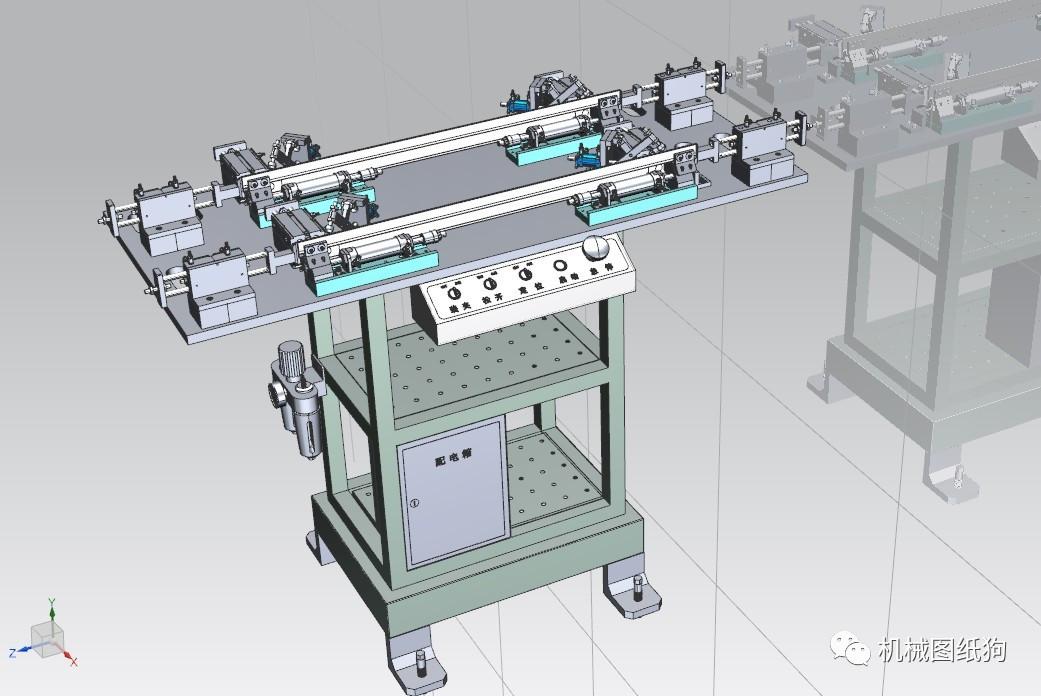 【工程机械】激光焊接气动工装夹具3d模型图纸 ug设计图片