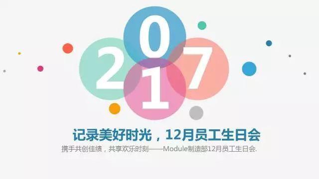 【分会风采】Module制造部12月员工生日会