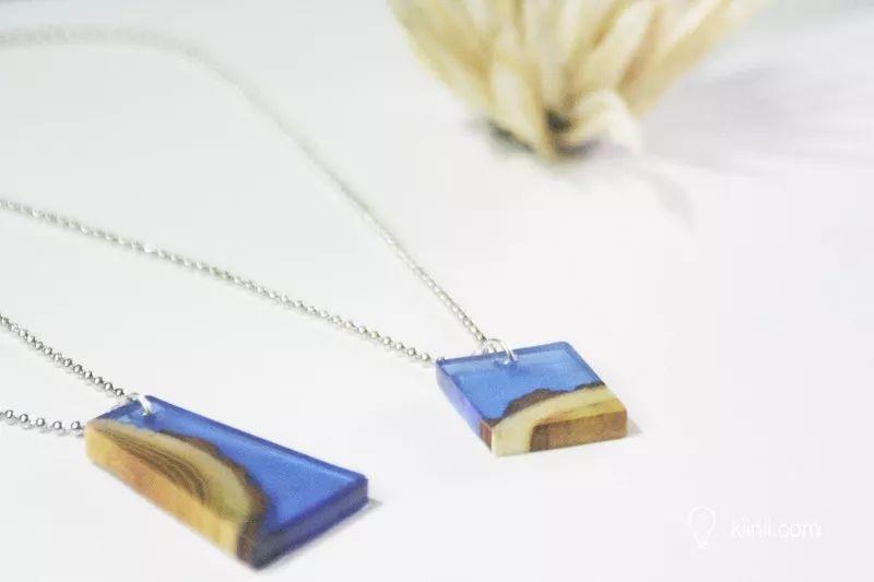 當木材遇上水晶滴膠 - 原木樹脂項鏈diy教程圖片