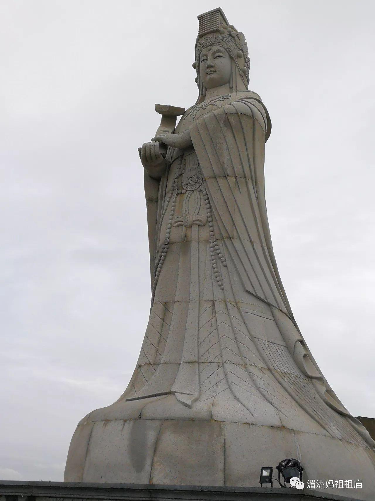 在连江相望台湾马祖岛的妈祖石像图片