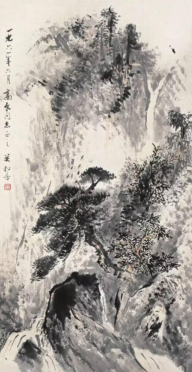 经典山水国画高清大�_大师关松房先生经典国画山水作品欣赏