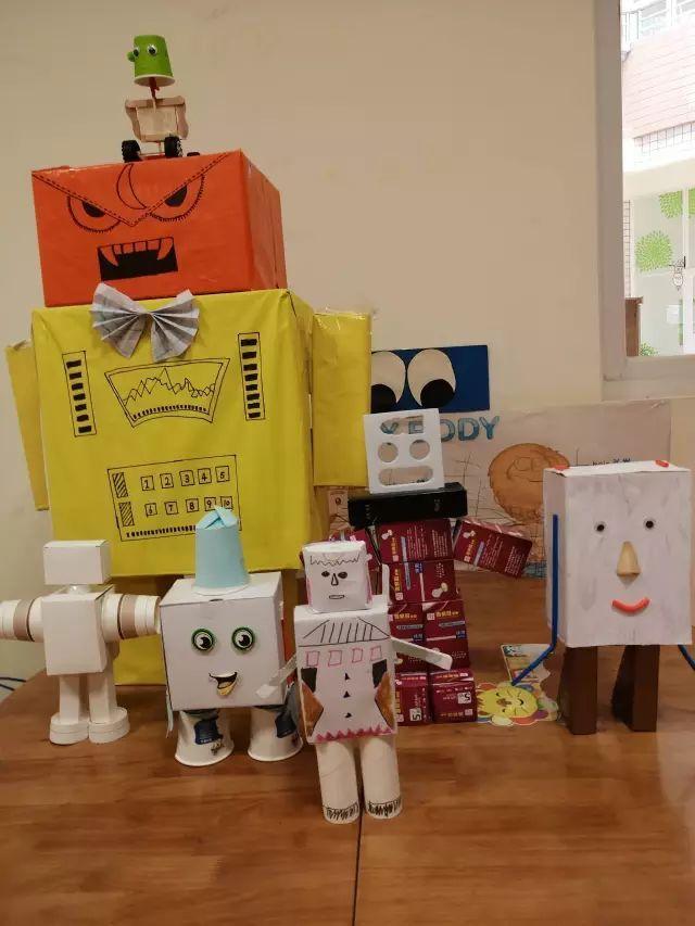 【机器人手工】幼儿园创意手工制作机器人,小小科学家