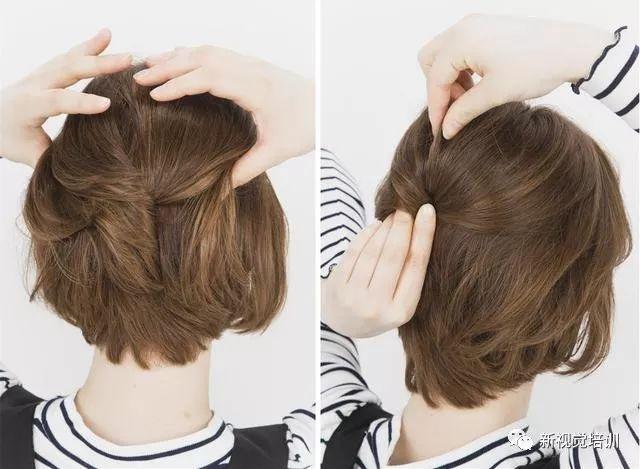 短发怎么编发?