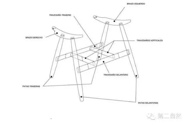 basic扶手椅的手绘图纸,一款如此受欢迎的椅子的手绘