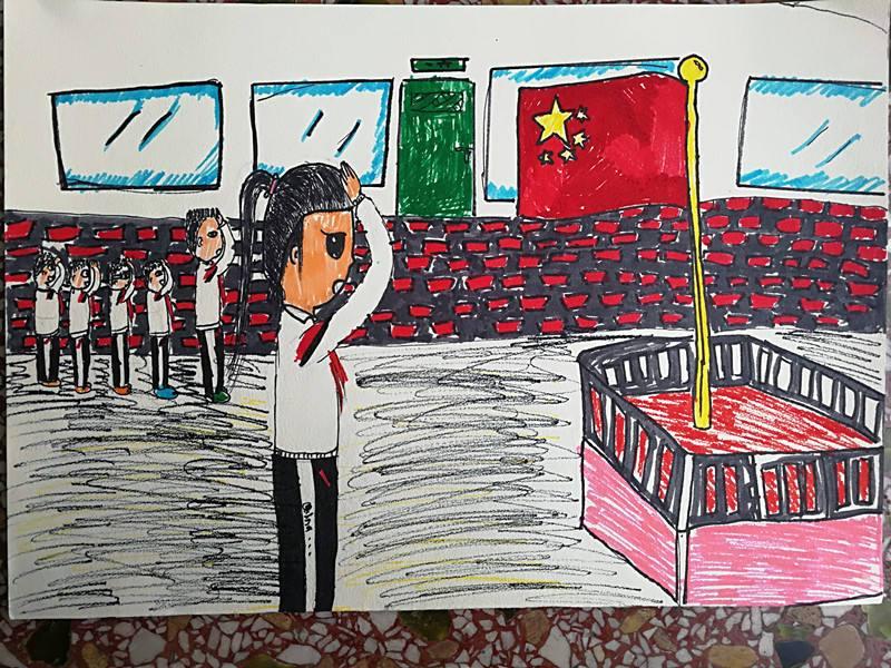通过向国旗敬礼-新时代 新青年 新征程 天心少年画说中国梦
