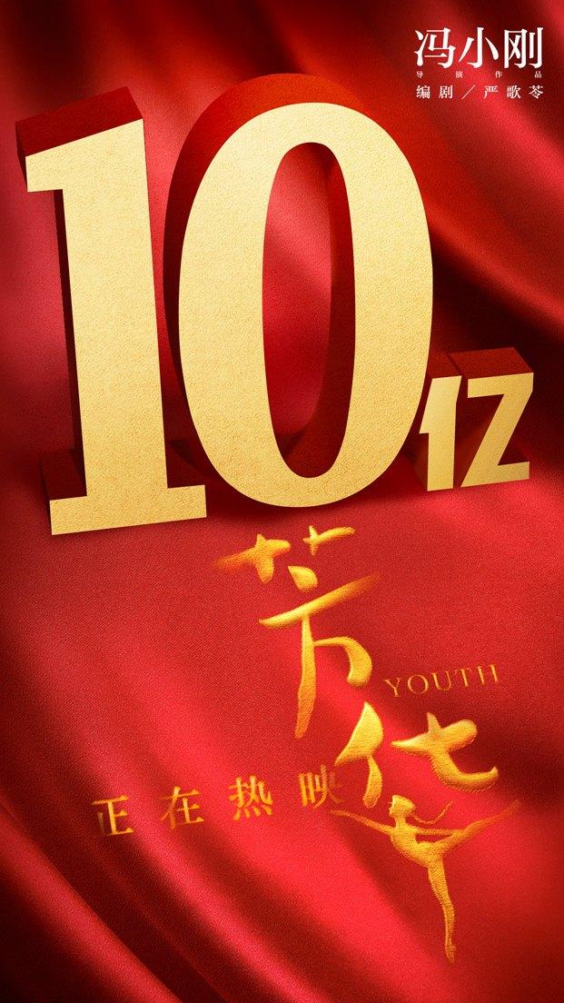《芳华》累计破10亿大关 创冯小刚作品最高票房