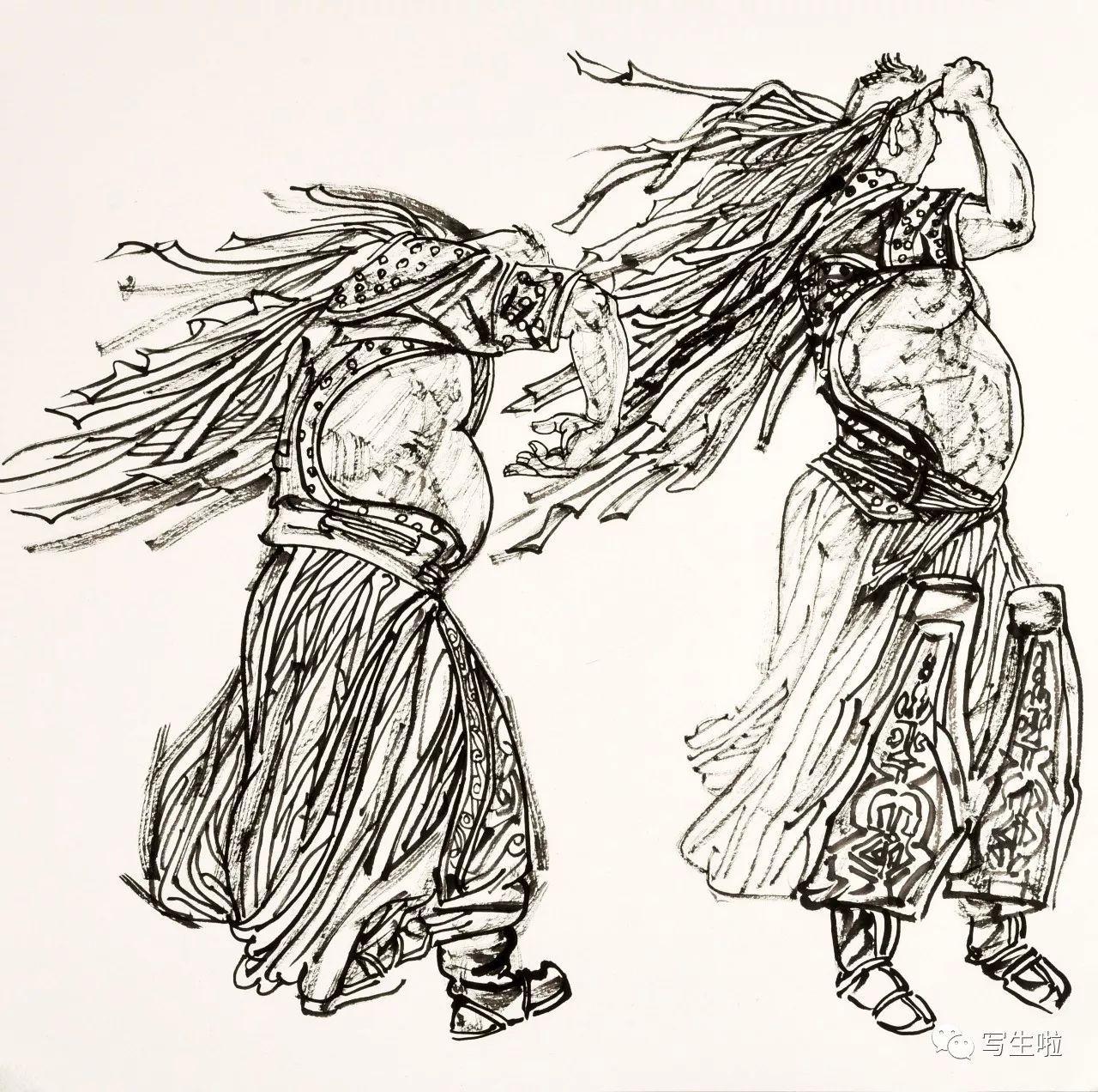 蒙古族人物(三) 68x68cm 2017年