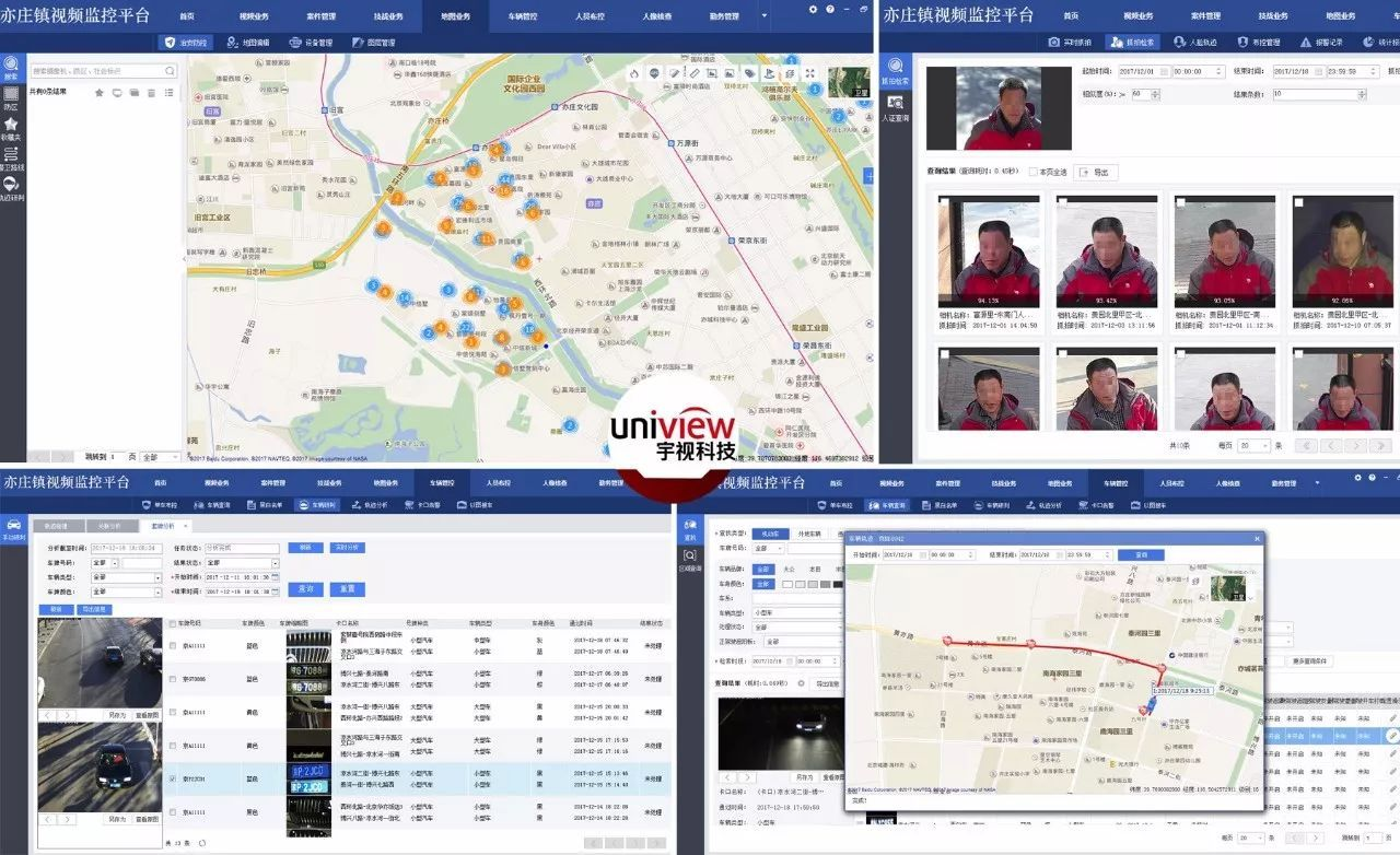 科技 正文  图:指挥中心视频监控平台截图,宇视雪亮工程守护亦庄 立体