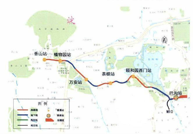 """西郊线路线图,穿越香山,颐和园等""""三山五园"""""""