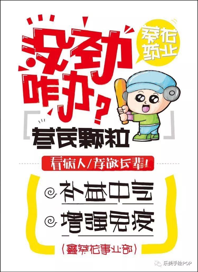 【年度复盘药店行业手绘pop海报】各类药品