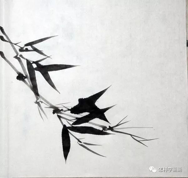 【书画知识】水墨竹画法,画竹子的好教程!图片