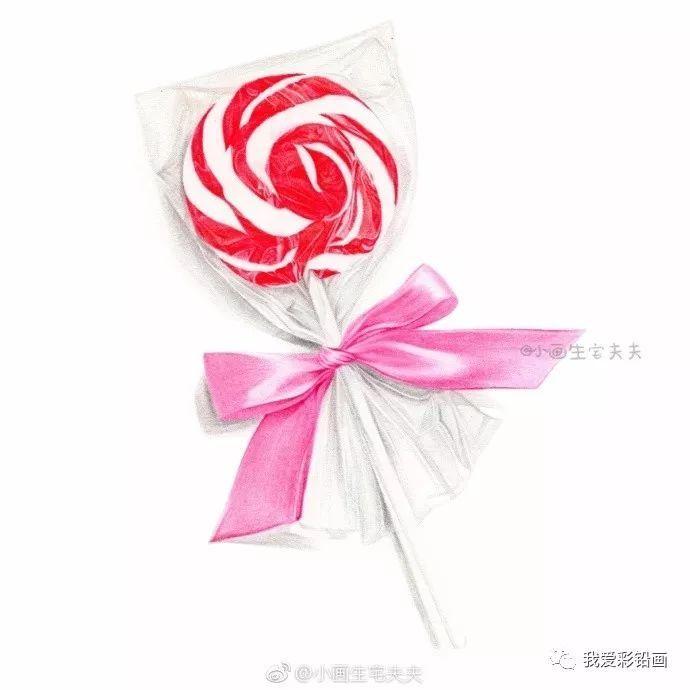 彩铅手绘--送你一颗棒棒糖,愿你一直被这个世界甜甜对待