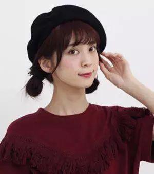 空气刘海圆脸双扎直发丸子头发型图片