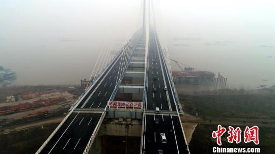 芜湖长江二桥规划图_安徽芜湖长江二桥通车运营 获全球基础设施建设创新大奖