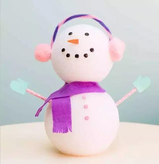 雪人鼻子手工制作图片