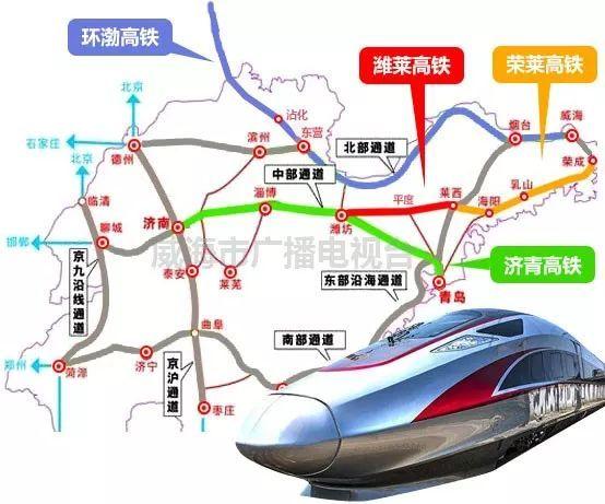 文登南,荣成6个车站,最高时速可达350公里,又是一条真正意义上个高铁!