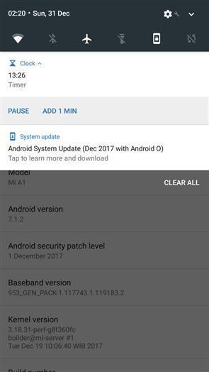 小米A1正式推送安卓8.0系统:加入快充功能的照片 - 2