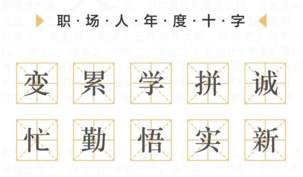 """脉脉联合共青团中央发起字述一年 """"变""""成为职场人年度汉字"""