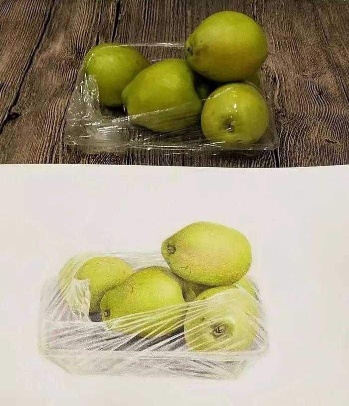 8k素描纸水果素描手绘
