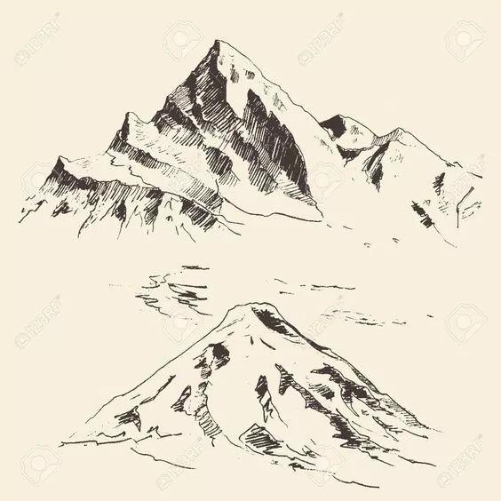 山川的手绘表现