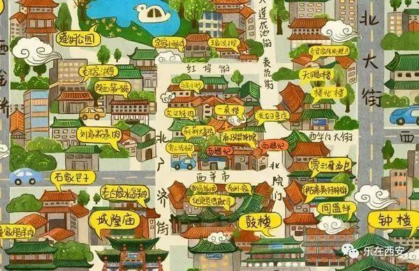 【回民街美食地图】