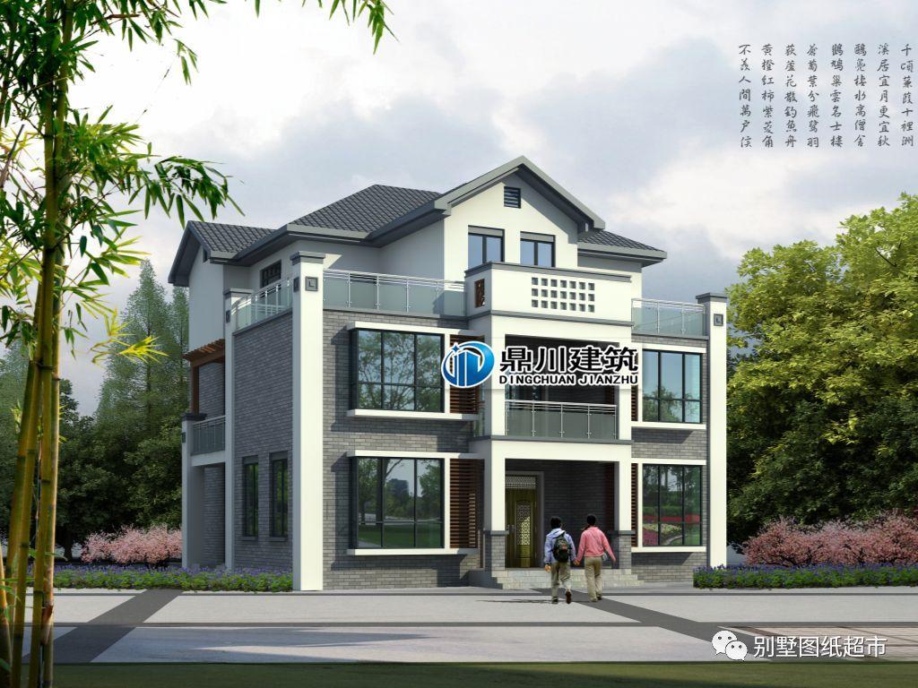 13款新中式自建绝不,别墅a绝不高端恢弘,中国人拒春风大气户型别墅大连十里图图片