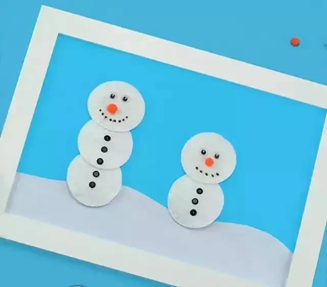 棉花手工制作大全图片大全雪人