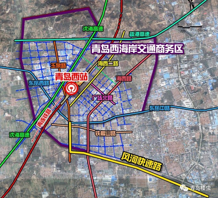 青岛境内设红岛站,洋河口站,青岛西客站和董家口站.
