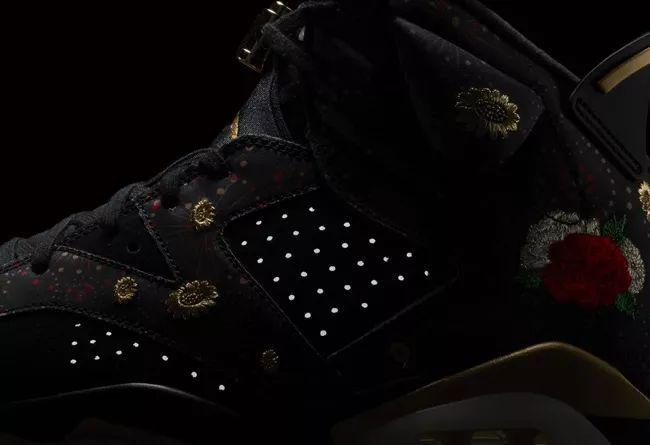 男女款都有!中国新年配色 Air Jordan 6 CNY 将于下周发售!莆田鞋吧