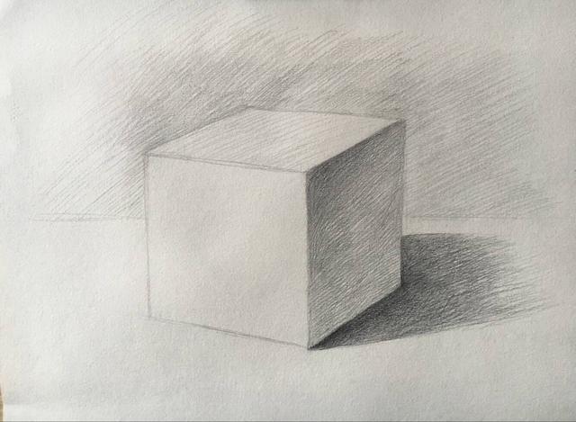 素描基础:学画最简单画——正方体!