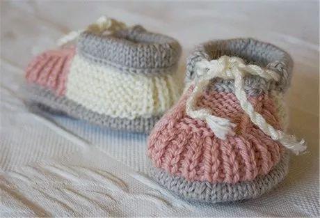 非常详细的宝宝婴儿鞋棒针编织教程