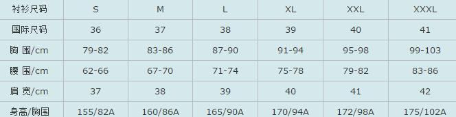 衣服尺码比较表S、M、bck体育appL、XL、XXL、XXXL男女尺度大