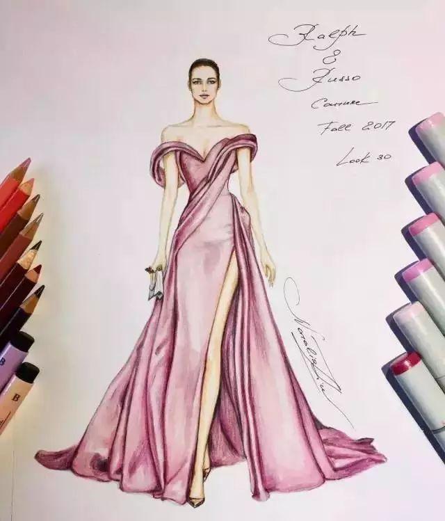 手绘裙子笔画简单