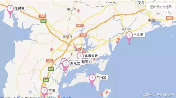 湛江旅游地图