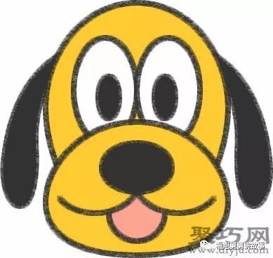 简笔画卡通人物大全——布鲁托狗