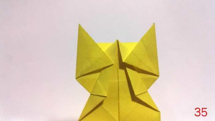 手工折纸 教大家折一款立体的小猫咪, 折纸图解教程大全