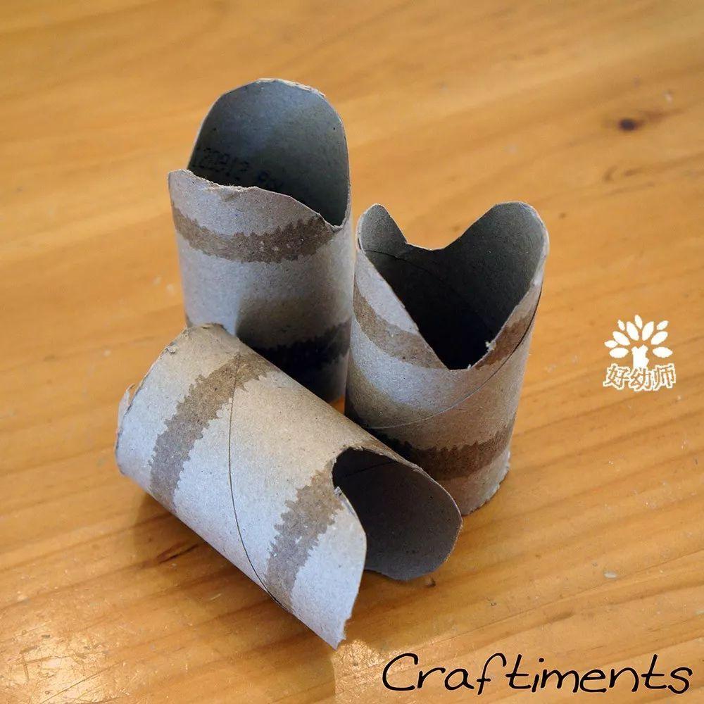 纸筒手工制作图片蛇