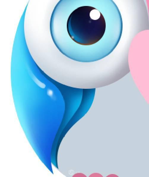 ps教程:鼠绘立体可爱呆萌的猫头鹰图像