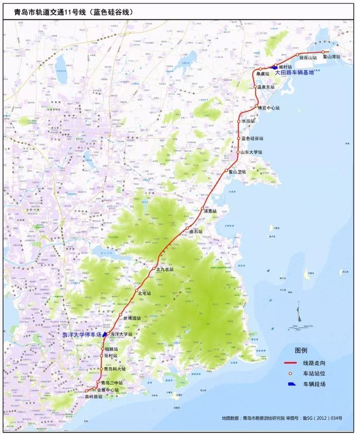青岛地铁11号线空载运行,1小时从市区到蓝谷!(附车厢内景及沿途风光)