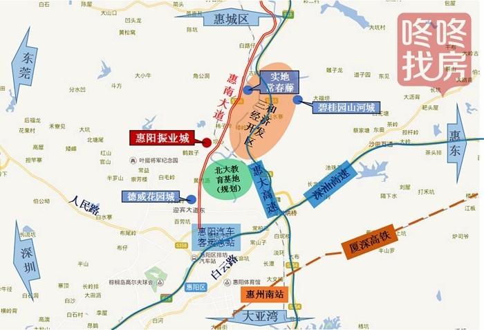 惠州市城市轨道交通规划中,惠州地铁1号线将在惠南大道沿线设有四个站点
