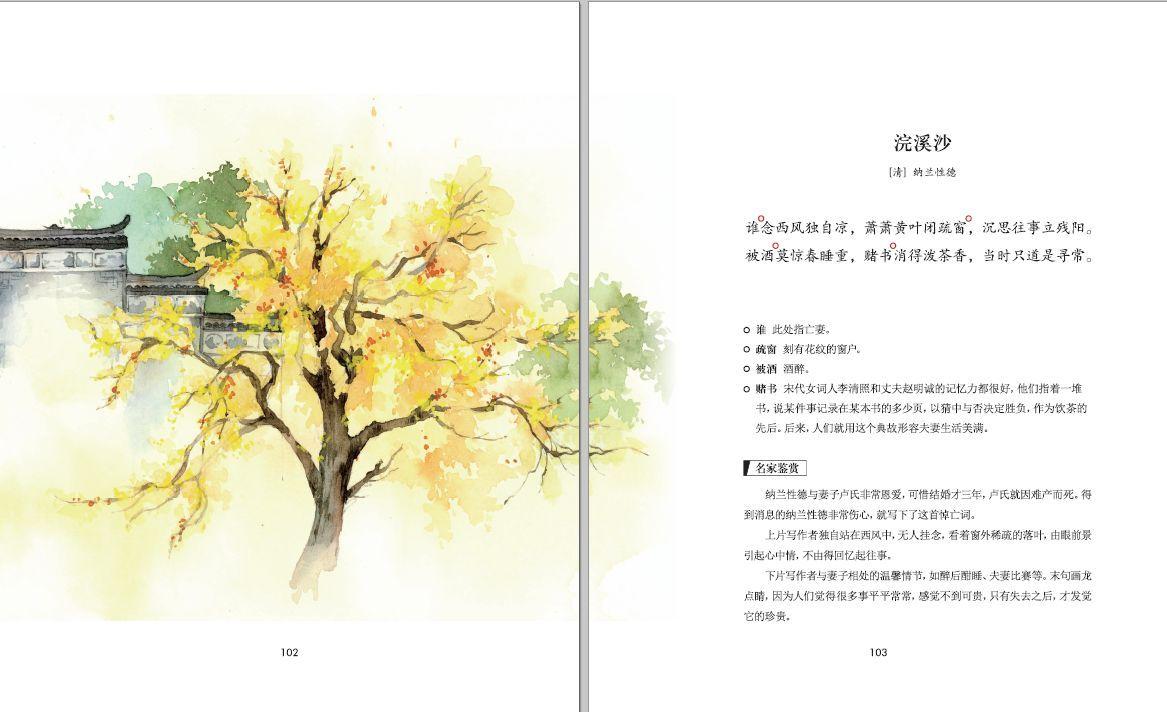 《马诗》配图 5 唯美中国风手绘插画,赏心悦目 书中每一首古诗词