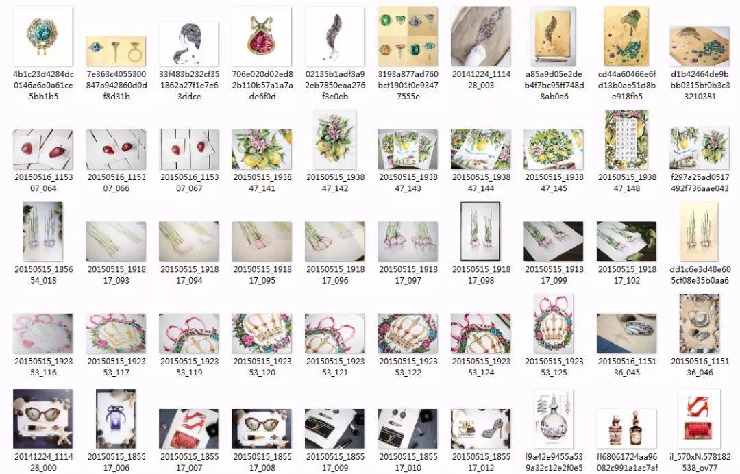 免费领取《2000张水彩花卉手绘图 步骤细节图》