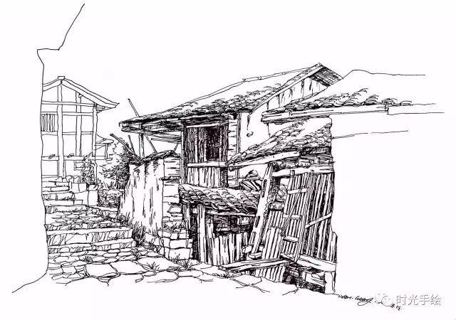 苏州园林手绘夏克梁
