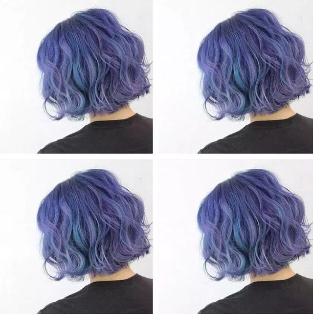 2018年流行梦幻蓝发色图片