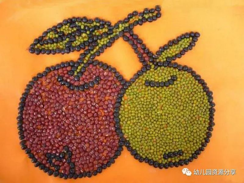 幼儿园豆贴画优秀作品欣赏