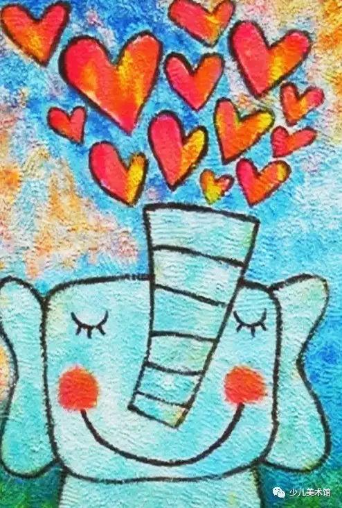 这么童真的砂纸画,简直要萌化你的心图片